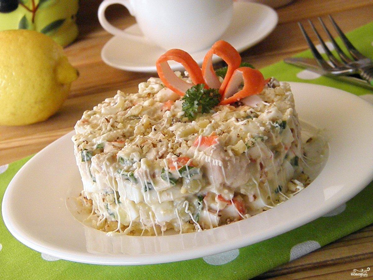 Салат с печени трески и крабовыми палочками рецепты с