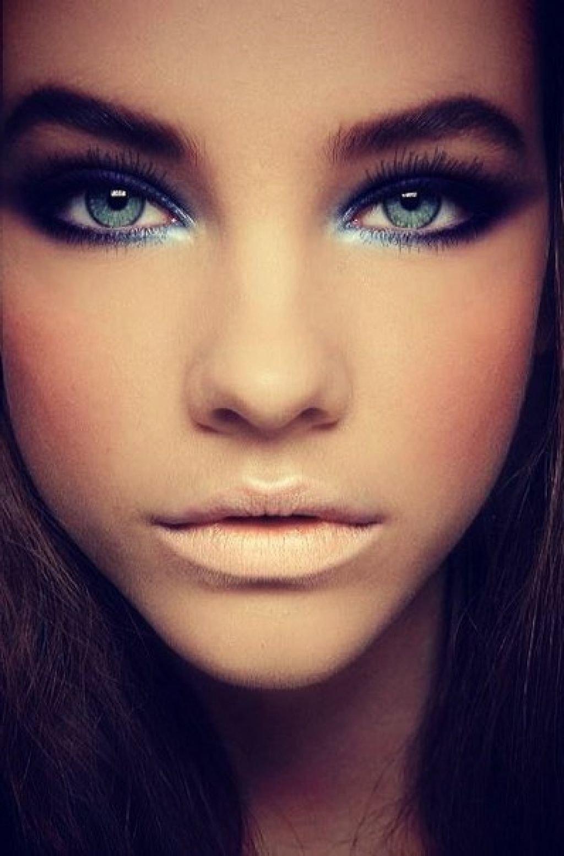 Деловой макияж для серых глаз фото
