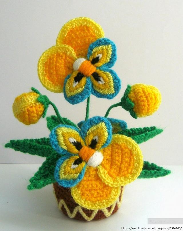 Фото цветов крючком