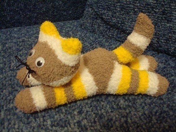 Котик из носка своими руками мастер