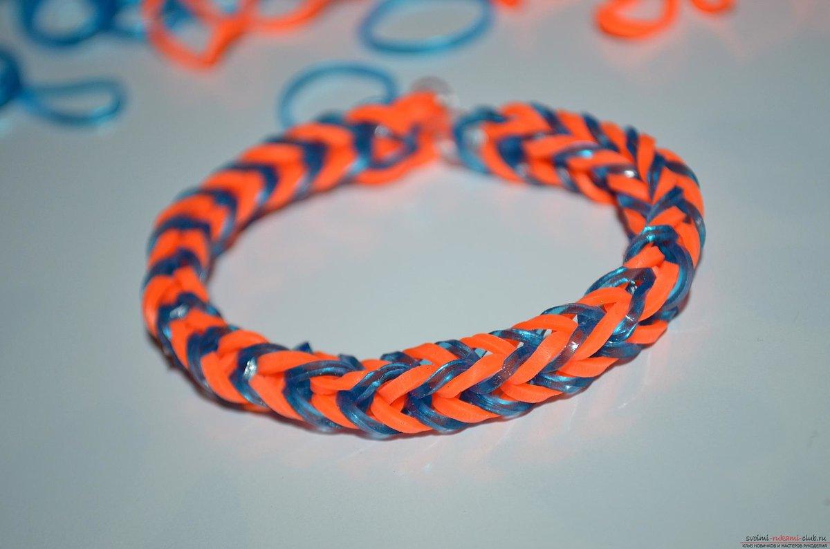 Цветные браслеты своими руками 563
