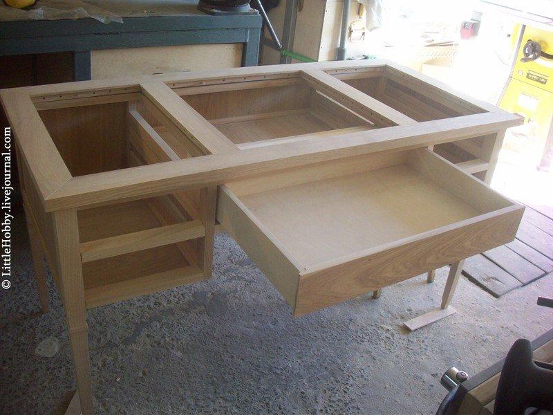 Как сделать стол с ящиками 139