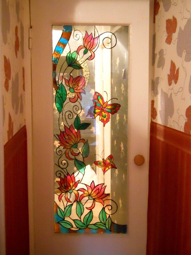 Сделать стекло в двери своими руками
