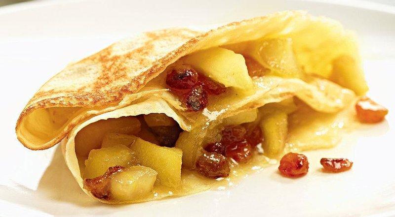 Блинчики из яблок рецепт пошагово
