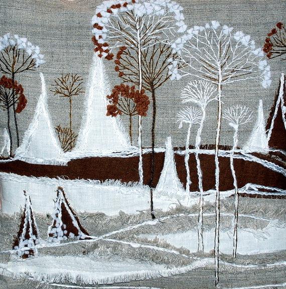 Зимние пейзажи своими руками
