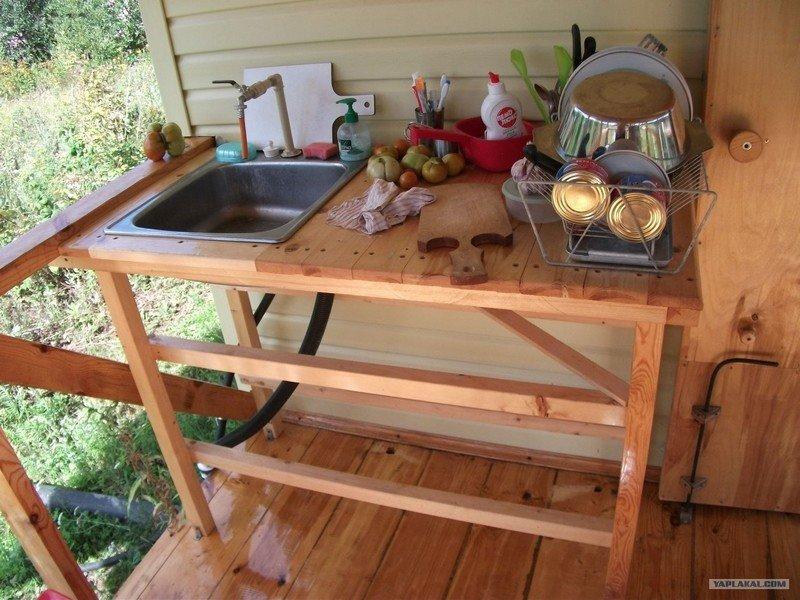 Летняя кухня своими руками очень простая конструкция 16