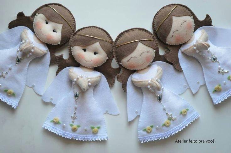 Ангелочки своими руками из фетра