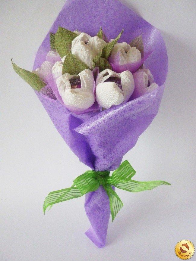 Цветы для букета из гофрированной бумаги своими руками
