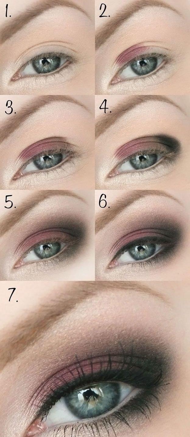 Возрастной макияж для зеленых глаз мастер класс7