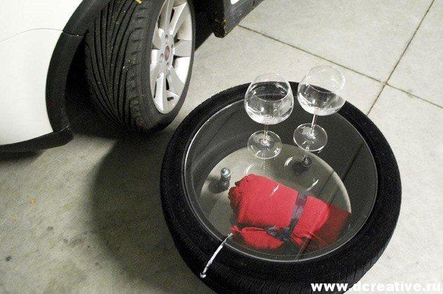 Что можно сделать из автомобильных колес своими руками 82
