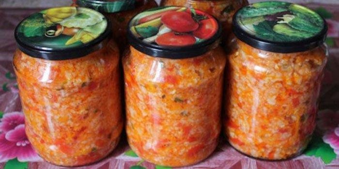 Рецепт салатов из цветной капусты на зиму с