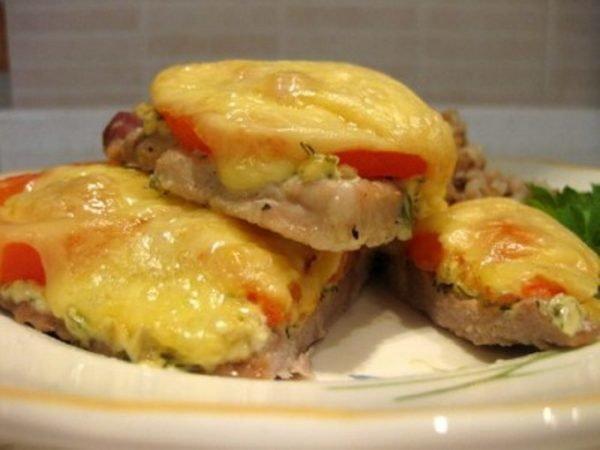 Рецепт отбивная свинина с сыром в духовке