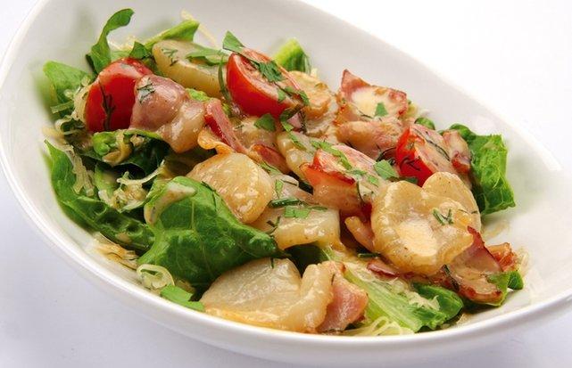 Морской гребешок салат рецепт