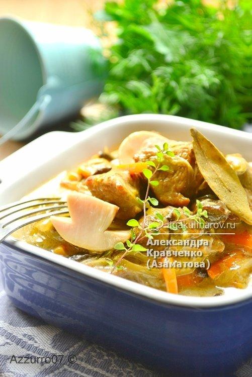 Рецепт фрикасе из телятины