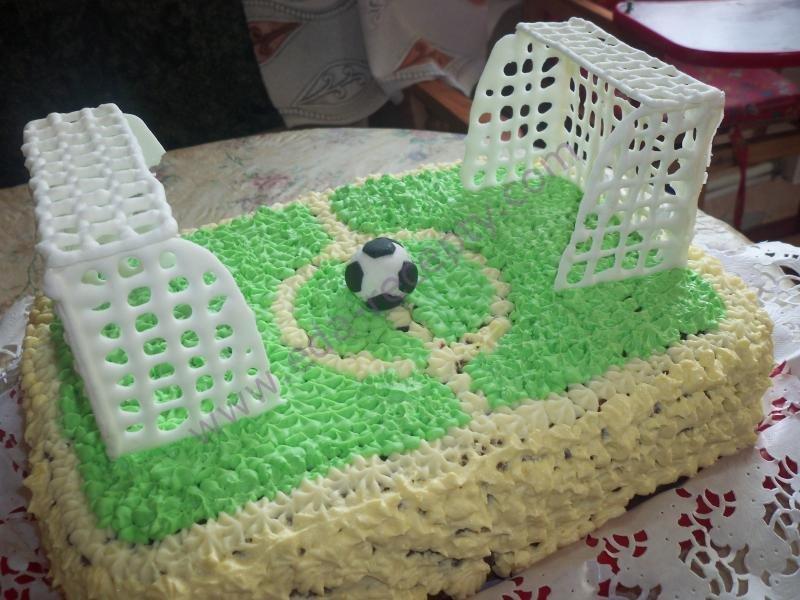 Как на торте сделать футбольное поле 773