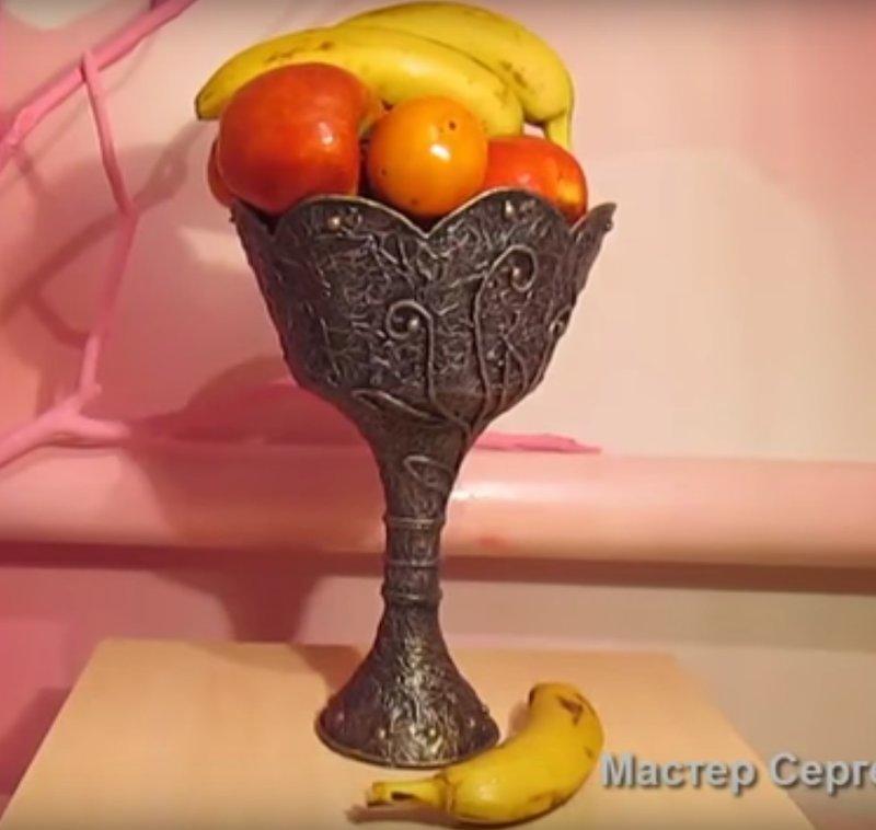 Ваза своими руками для фруктов