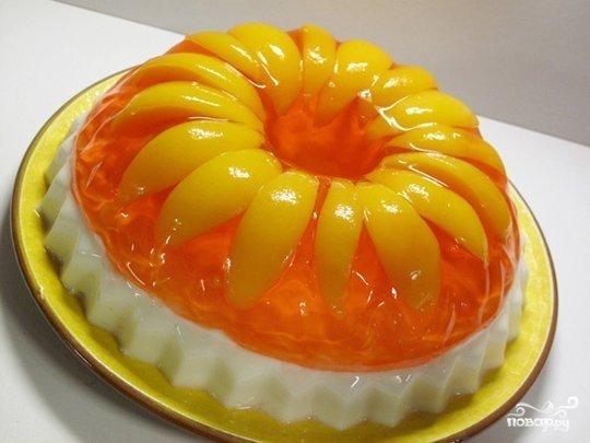 Торт из желатина с фруктами пошаговый рецепт с