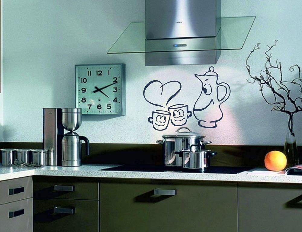 Трафареты для стен на кухне своими руками