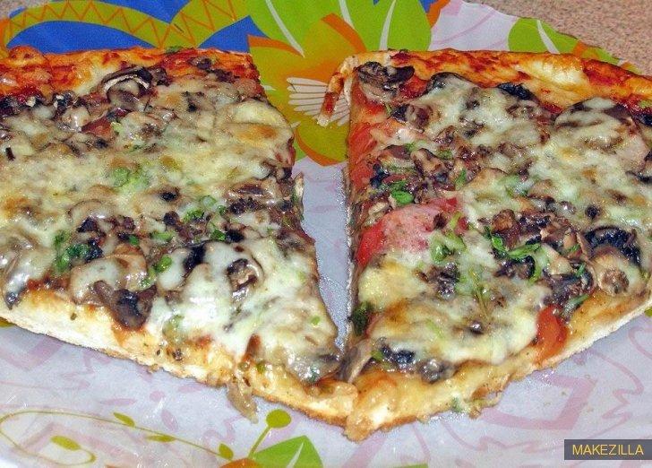 Пицца на кислом молоке рецепт с фото