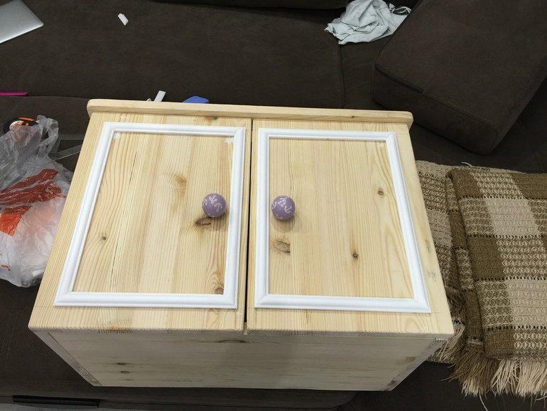 Навесной шкаф из дерева своими руками 39