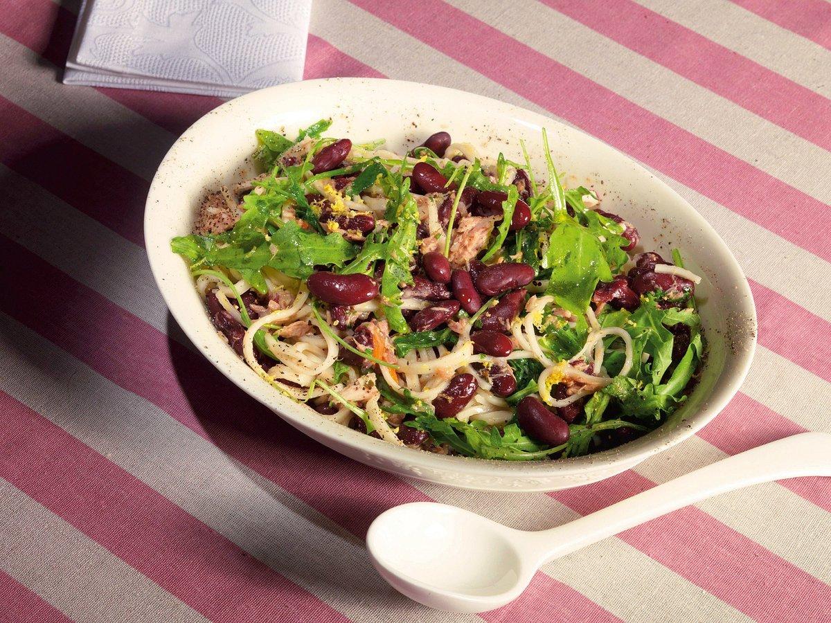 Салат с красной фасолью рецепт пошагово