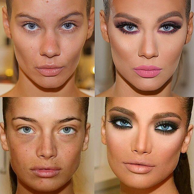 Фото как макияж меняет