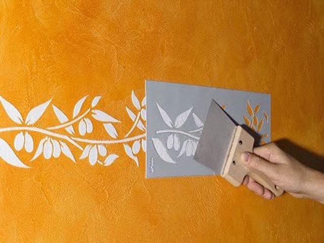 Трафарет для покраски стены своими руками