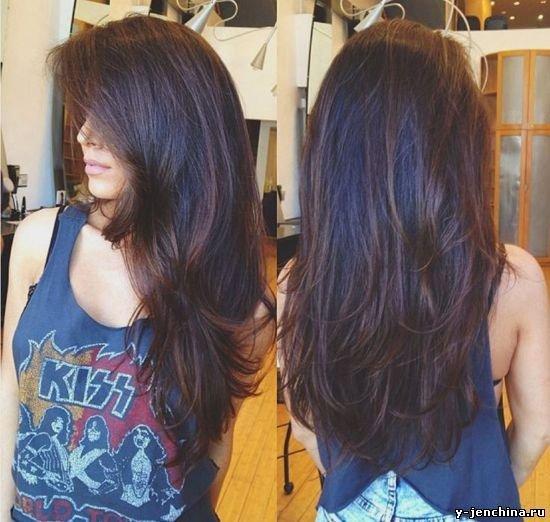 Прически на длинные волосы каскад