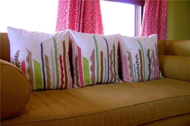 Диванные подушки сделанные своими руками