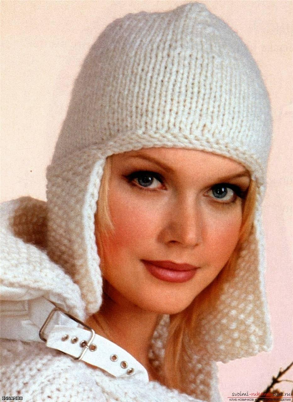 Вязание шапок спицами для женщин - Новые модные модели 2015