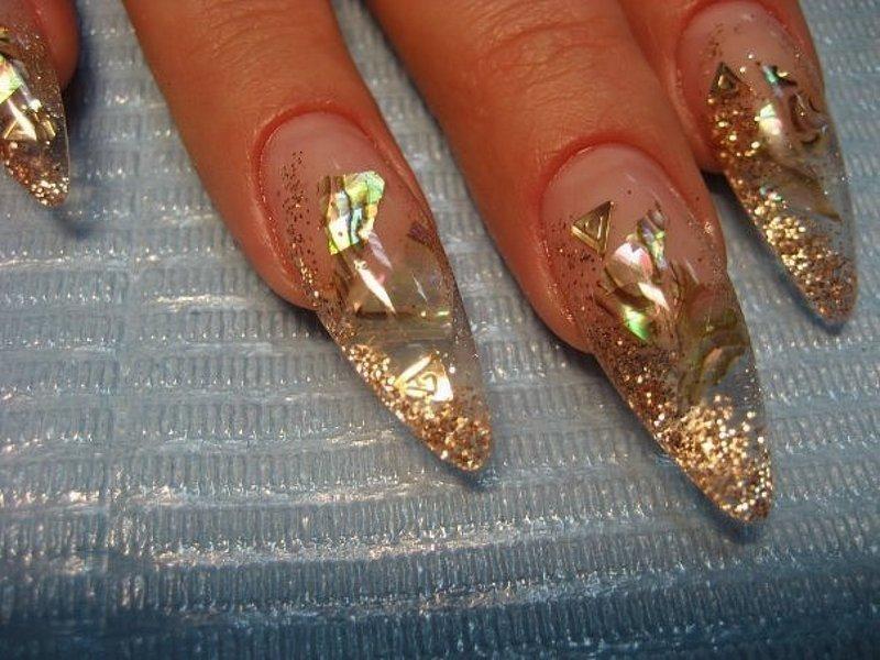 Аквариум дизайн нарощенных ногтей