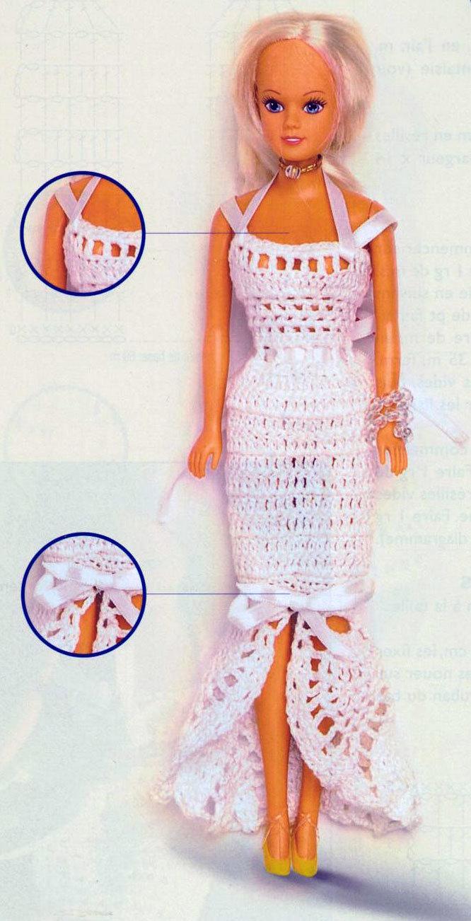 Вязание платьев для кукол барби