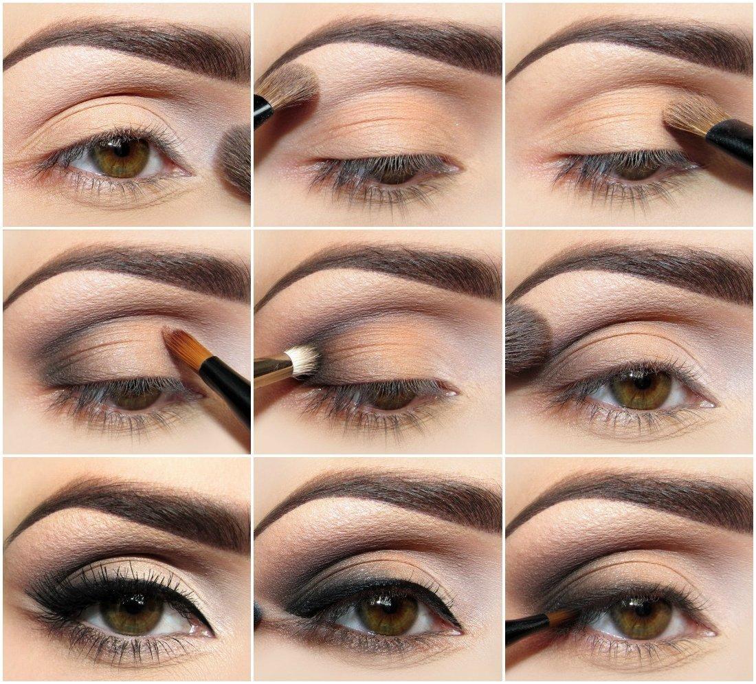 Макияж для светло-карих глаз на каждый день