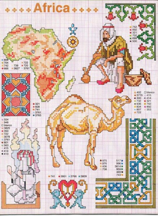 Египет схема вышивки крестом 6