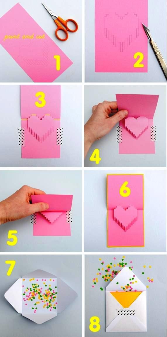 Как сделать открытку своими руками на день рождения лёгкие