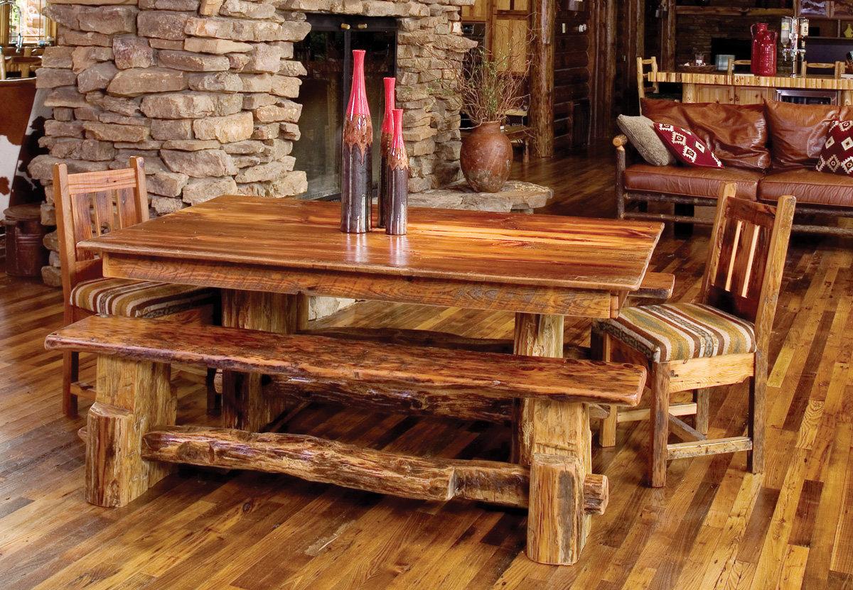 Мебель из дерева в деревенском стиле