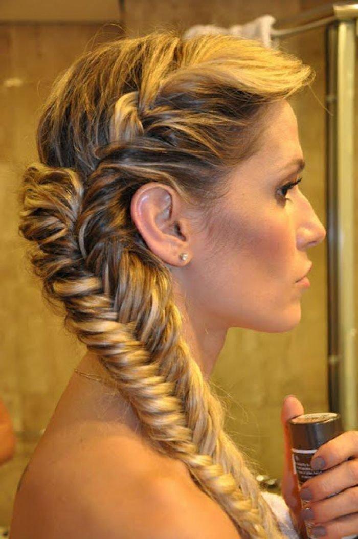 Фото прически коса набок