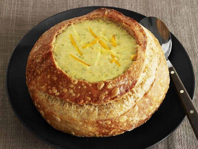Суп пюре в хлебе рецепт пошаговый с