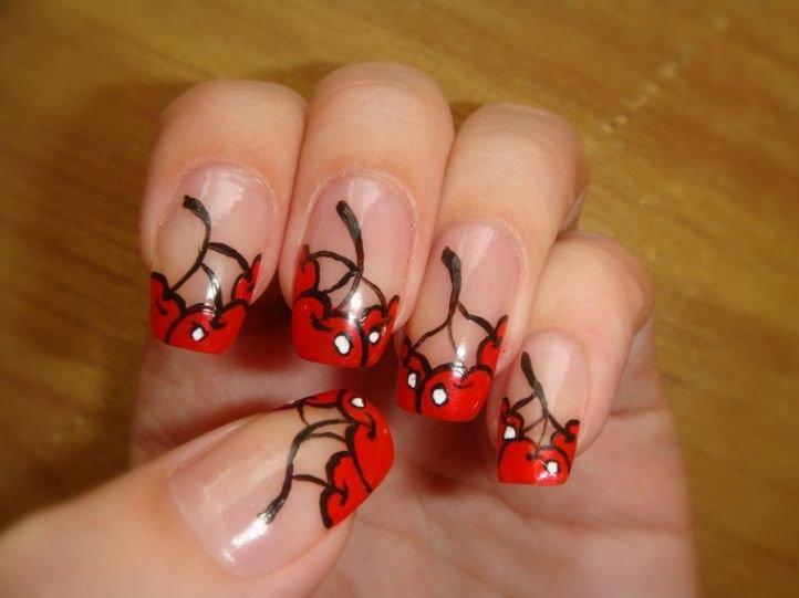 Фото простого дизайна ногтей акриловыми красками