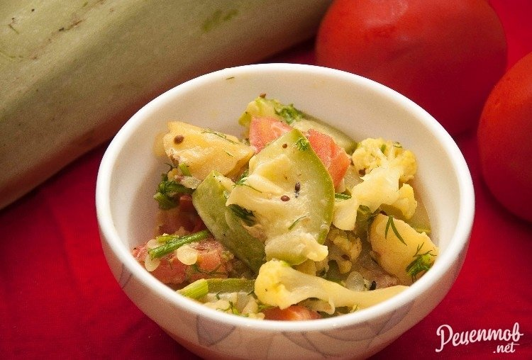 Рагу из кабачка рецепт с пошаговым