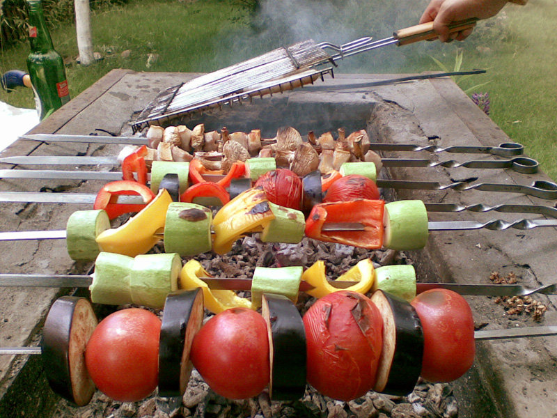 Как сделать овощи на гриле на костре 430