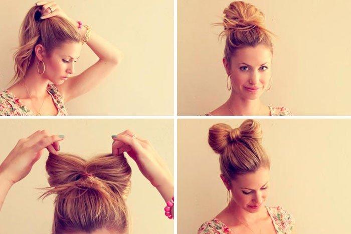 Простые прически дома на средние волосы своими руками