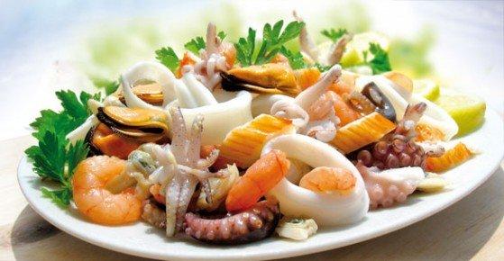 Салаты из морепродуктов по итальянски