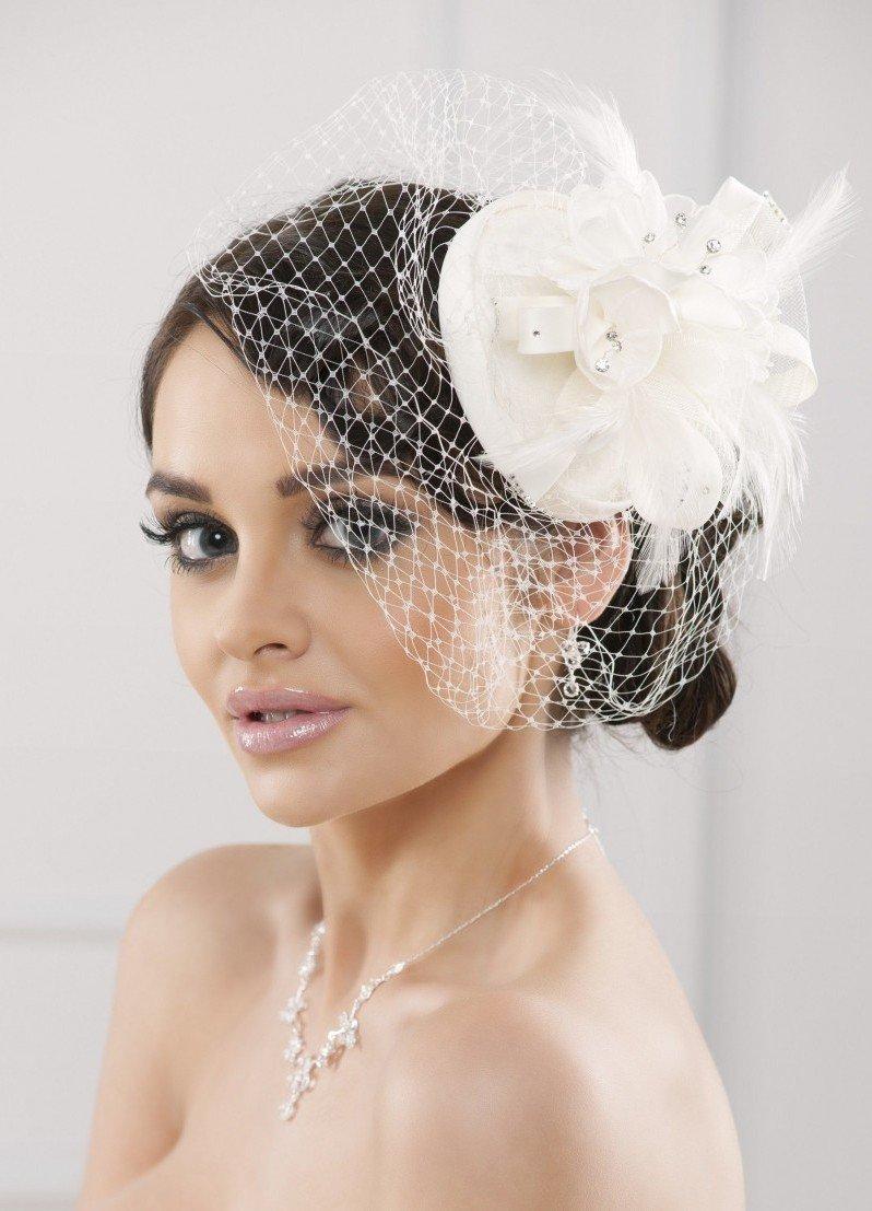 Фото свадебных причесок с вуалеткой