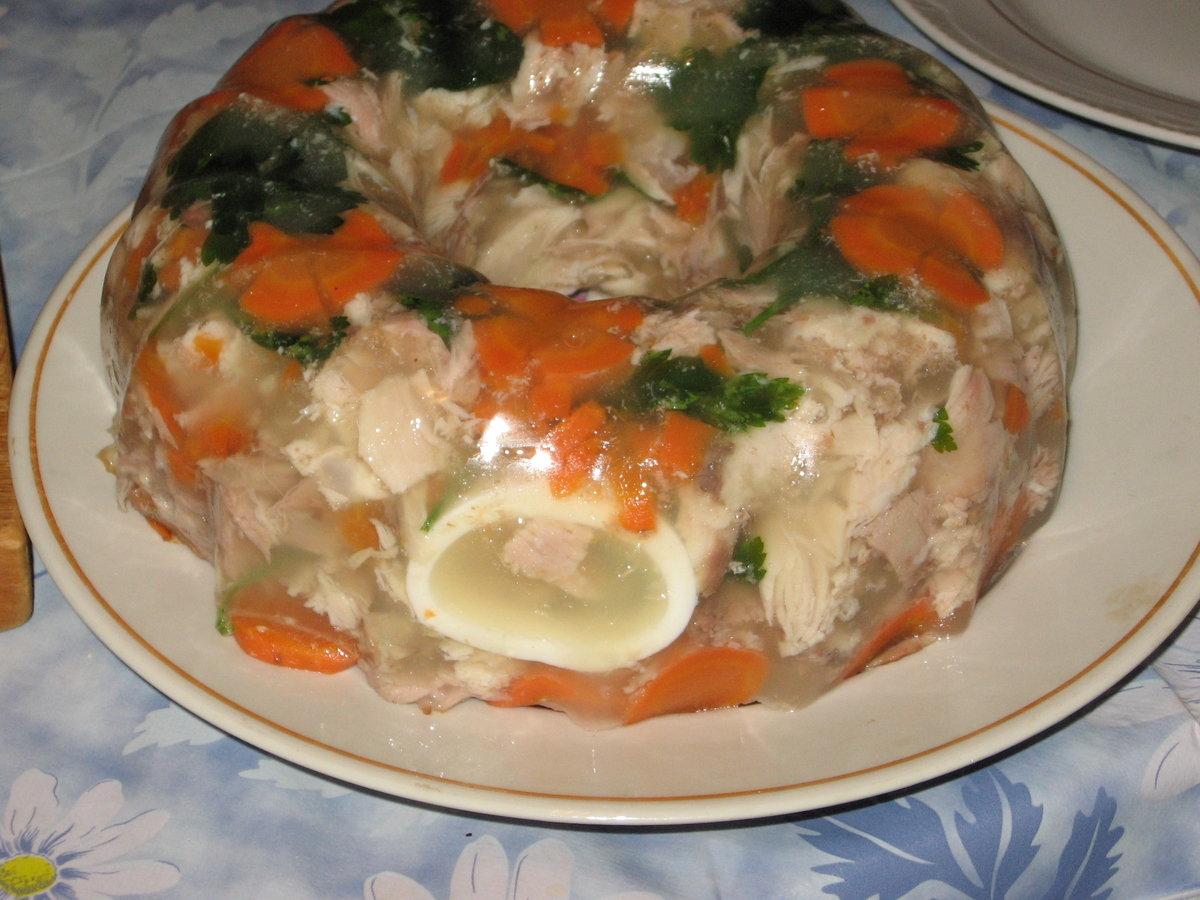 Заливное из грудки курицы пошаговый рецепт