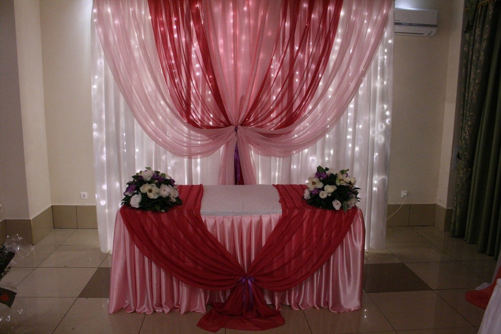 Драпировка свадебного стола своими руками пошагово 33