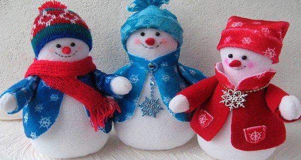 Как сделать снеговика из синтепона своими руками фото