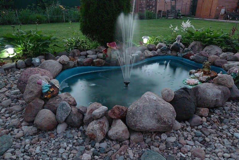 Как сделать фонтан своими руками на даче фото