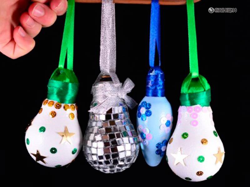 Новогодние игрушки своими руками из лампочки пошаговая инструкция