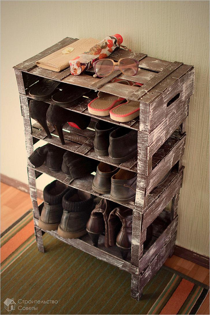 Как сделать полку в домашних условиях для обуви